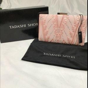 NWT $168 Tadashi Shoji Embellished Mesh Clutch